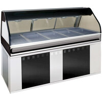 Alto-Shaam EU2SYS-72 BK Black Cook / Hold / Display Case with Curved Glass and Base - Full Service, 72 inch