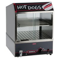 Nemco 8300 Countertop Hot Dog Steamer with Low Water Indicator Light - 220V