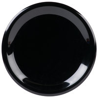 Carlisle 3300403 Sierrus 9 inch Black Narrow Rim Melamine Plate - 24/Case