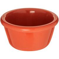 Carlisle S28552 4 oz. Sunset Orange Smooth Melamine Ramekin - 48/Case