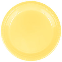 Creative Converting 28102021 9 inch Mimosa Yellow Plastic Plate - 20/Pack