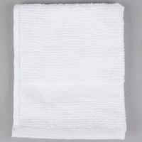 12 inch x 12 inch 100% Open End Cotton Hotel Washcloth 1 lb. - 12/Pack