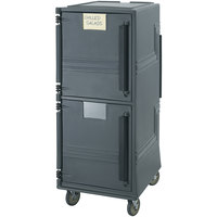 Cambro CMBPSPHD615 Charcoal Gray Combo Cart Plus with Security Package and Heavy Duty Casters