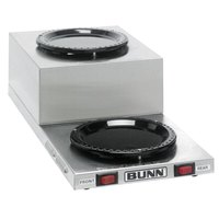 Bunn 11402.0001 WL2 Stainless Steel Low Profile Step Up Decanter Warmer - Dual Burner
