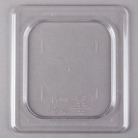 Cambro 60CWC135 Camwear 1/6 Size Clear Polycarbonate Flat Lid