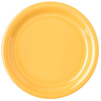 Carlisle 4300822 Durus 6 1/2 inch Honey Yellow Narrow Rim Melamine Plate - 48/Case