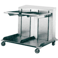 APW Wyott Lowerator CTRD-1418 Double Mobile Open Cantilever Tray Dispenser for 14 inch x 18 inch Trays