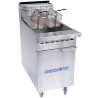 Bakers Pride BPF-4050 Restaurant Series Natural Gas 40-50 lb. Floor Fryer - 114,000 BTU