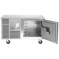 Traulsen TBC5-54 Spec Line Undercounter 5 Pan Blast Chiller - Right Hinged Door with 6 inch Casters and Stainless Steel Back