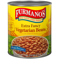 Furmano's #10 Can Extra Fancy Vegetarian Beans and Sauce   - 6/Case