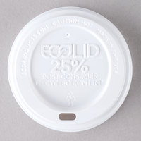 Eco-Products 8 oz. White Recycled Content Hot Paper Cup Lid - 1000/Case