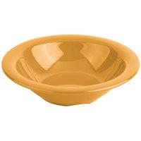 Carlisle 3303622 Sierrus 12 oz. 7 1/4 inch Honey Yellow Rimmed Melamine Bowl - 24/Case