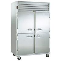 Traulsen G20004P 2 Section Solid Half Door Pass-Through Refrigerator - Left / Right Hinged Doors