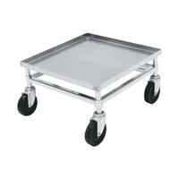 Metro D2121C Heavy Duty Aluminum Glass Rack Dolly, No Handle