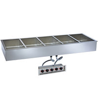 Alto-Shaam 500-HW/D4 Five Pan Drop In Hot Food Well - 4 inch Deep Pans, 240V