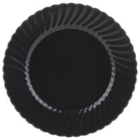 """WNA Comet Classicware EcoSense 10 1/4"""" Biodegradable Black Plastic Plate - 144/Case"""