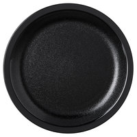 Carlisle PCD20503 Black Narrow Rim 5 1/2 inch Polycarbonate Plate - 48/Case