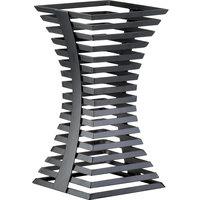 Cal-Mil 1465-15-13 Black Metal Elevation Riser - 8 inch x 8 inch x 15 inch
