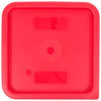 Cambro SFC6451 Winter Rose Square Polyethylene Lid for 6 Qt. and 8 Qt. Food Storage Containers