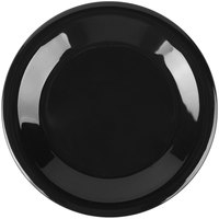 Carlisle 3301803 Sierrus 6 1/2 inch Black Wide Rim Melamine Pie Plate - 48/Case