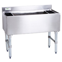 Regency 18 inch x 36 inch Underbar Ice Bin with 7 Circuit Post-Mix Cold Plate and Bottle Holders - 119 lb.