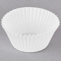 Hoffmaster 610031 1 7/8 inch x 1 5/16 inch White Fluted Baking Cup - 500/Pack