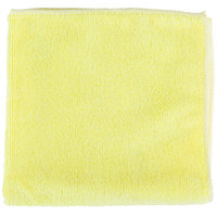 Unger ME40J SmartColor MicroWipe 16 inch x 16 inch Yellow UltraLite Microfiber Cleaning Cloth