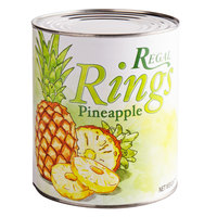 Regal Foods #10 Can Sliced Pineapple Rings in Natural Juice - 6/Case