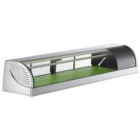 Hoshizaki HNC-150BA-R-SLH Curved Glass Refrigerated Sushi Display Case 59 inch - Right Side Compressor