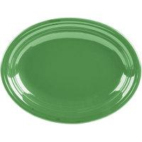 Homer Laughlin 457344 Fiesta Meadow 11 5/8 inch x 8 7/8 inch Oval Medium China Platter - 12/Case