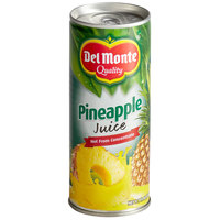 Del Monte 8.1 oz. 100% Pineapple Juice   - 24/Case