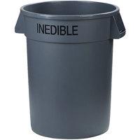 Carlisle 341032INE23 Bronco 32 Gallon Gray Round INEDIBLE Trash Can