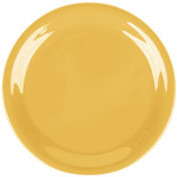 Carlisle 3300822 Sierrus 6 1/2 inch Honey Yellow Narrow Rim Pie Melamine Plate - 48/Case