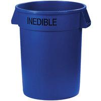 Carlisle 341032INE14 Bronco 32 Gallon Blue Round INEDIBLE Trash Can