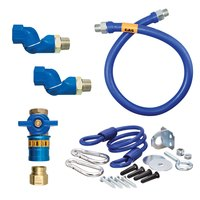 Dormont 1650KITCF2S48 Deluxe Safety Quik® 48 inch Gas Connector Kit with Two Swivels and Restraining Cable - 1/2 inch Diameter