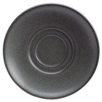 Homer Laughlin 121442000 Quarry 6 1/4 inch Gray Round China Saucer - 36/Case