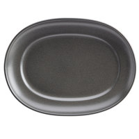 Homer Laughlin 122442000 Quarry 12 inch Gray China Platter - 12/Case
