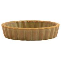 Hall China 8640APEA Pesto® 8 oz. Round Fluted China Souffle / Creme Brulee Dish - 24/Case