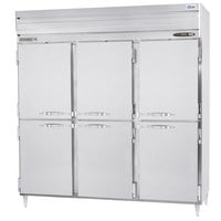 Beverage-Air PRD3-1AHS 78 inch Stainless Steel Solid Half Door Pass-Through Refrigerator