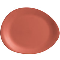 World Tableware DRI-15-CME Driftstone 14 inch x 11 inch Clay Organic Melamine Platter - 6/Case
