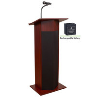 Oklahoma Sound M111PLS-MY Mahogany Power Plus Lectern with Sound and Rechargeable Battery