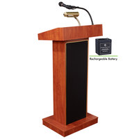 Oklahoma Sound M800X-CH Cherry Finish Orator Lectern with Sound and Rechargeable Battery