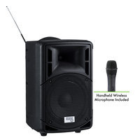 Oklahoma Sound PRA-8000/PRA8-5 Pro Audio Bluetooth Wireless Portable PA System with Wireless Handheld Microphone - 40W