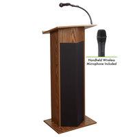 Oklahoma Sound 111PLS-MO/LWM-5 Medium Oak Power Plus with Sound and Wireless Handheld Microphone