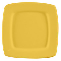 CAC R-S8QYW Clinton Color 8 7/8 inch Yellow Square in Square Plate - 24/Case