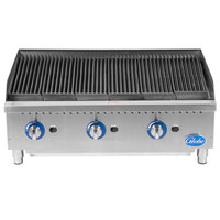 Globe GCB36G-SR 36 inch Gas Charbroiler with Stainless Steel Radiants - 120,000 BTU