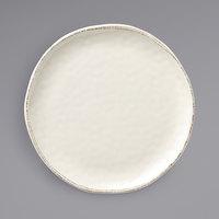 World Tableware FH-550MEL Farmhouse 12 1/2 inch Ivory (American White) Round Organic Melamine Platter - 6/Case