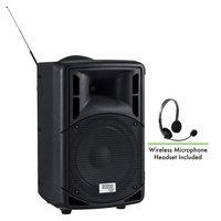 Oklahoma Sound PRA-8000/PRA8-7 Pro Audio Bluetooth Wireless Portable PA System with Wireless Headset Microphone - 40W