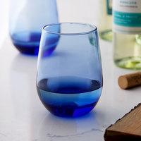 Libbey 231L 15.25 oz. Tidal Blue Stemless White Wine Glass - 12/Case