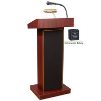 Oklahoma Sound M800X-MY Mahogany Finish Orator Lectern with Sound and Rechargeable Battery